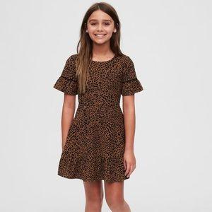 GAP kids NWT girls Leopard corduroy dress size L